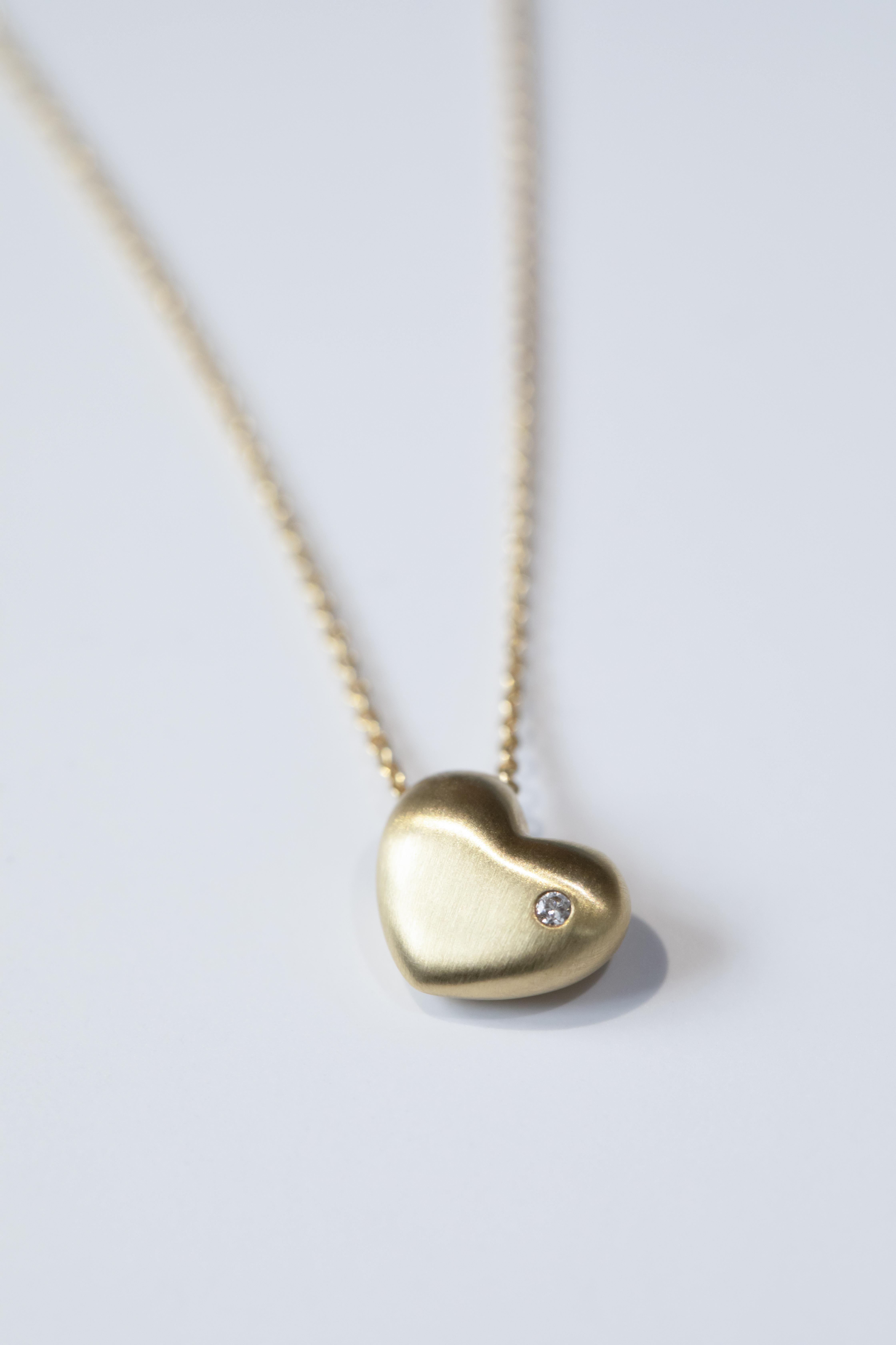 Herz, brillant, Gold-Bindung-sohn-tochter-hochwertig-nachhaltig-kinderschmuck